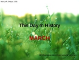 THIS DAY IN HISTORY: March (63 slides)