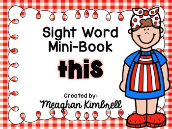 THIS mini-sight word booklet with MRS. WISHY WASHY