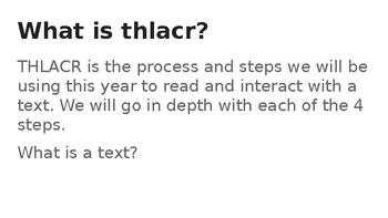THLACR Reading Strategies
