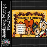 Gobblin' Good Word Work and Writing Activity Pack-Thanksgiving