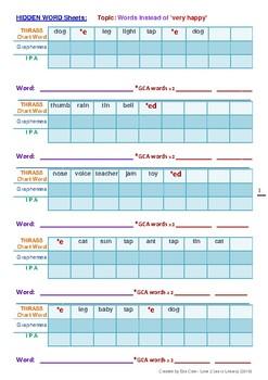 THRASS Hidden Word Activity Booklet - Volume 2