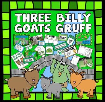THREE BILLY GOATS GRUFF STORY TEACHING RESOURCES EYFS KS 1-2 LITERACY TROLL