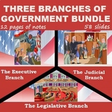 THREE BRANCHES OF GOVERNMENT BUNDLE: powerpoints & cloze notes sheets