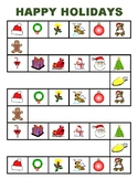 THREE CHRISTMAS GAME BOARDS WITH SECOND 100 FRY WORD CARDS