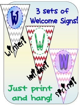 THREE Chevron Welcome Banners!
