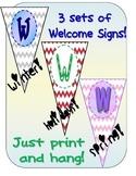 THREE Chevron Welcome Banners!