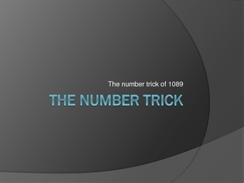 THREE DIGIT NUMBER TRICK