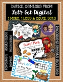 INTERACTIVE  DIGITAL TASK CARD CENTERS-One More, One Less and Equal Sets
