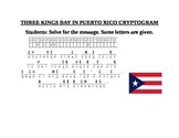 THREE KINGS DAY IN PUERTO RICO CRYPTOGRAM