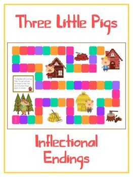 THREE LITTLE PIGS Inflectional Word Endings - ELA First Gr