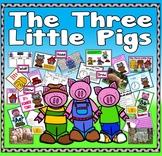 THREE LITTLE PIGS STORY RESOURCES EYFS KS 1-2 ENGLISH LITERACY ANIMALS