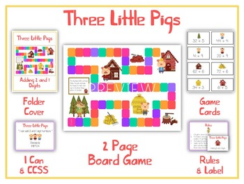 THREE LITTLE PIGS - Word Problems Adding & Subtracting - M