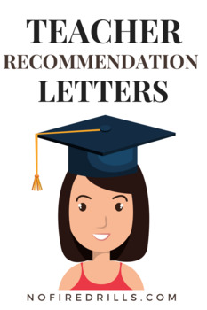 three recommendation letter templates with a sample varied by level of student