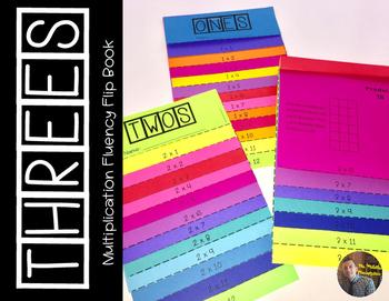 THREES Multiplication Fact Fluency Flip Book: Grades 3-5