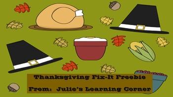 Thanksgiving Fix-It Freebie