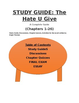 The Hate U Give Review Discussions Reviews Final Essay 111
