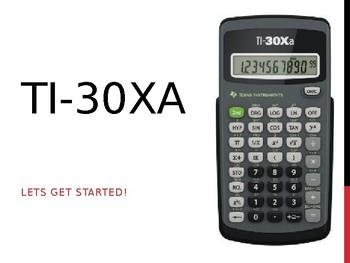 TI-30Xa Intro Powerpoint