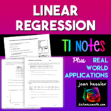 Statistics Linear Regression with Applications TI 83 84 | Distance Learning