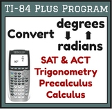 Convert Degrees to Radians - TI-84 Plus Calculator Program