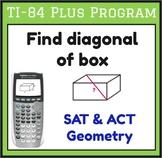 Find diagonal of rectangular prism - TI-84 Plus program