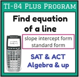 Find equation of a line - TI-84 Plus Program