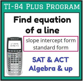 Find equation of a line - TI-84 Plus Program