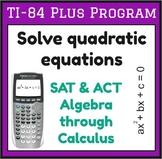 Solve quadratic equations - TI-83/84 Plus Program