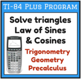 Solve triangles - Law of Sines / Cosines - TI-84 Plus Program