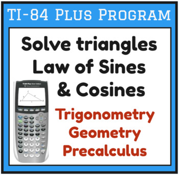 Solving Triangles Worksheets & Teaching Resources | TpT