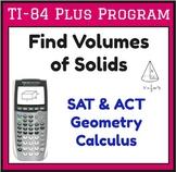 Find Volume - Program for TI-84 Plus - sphere, cylinder, b