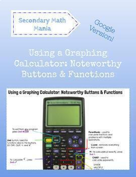 Ti-83 Calculator Worksheets & Teaching Resources   TpT