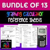 Graphing Calculator Handouts Bundle of 13 TI 83  84 Plus