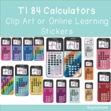 TI 84 Calculator Clip Art or Online Learning Stickers