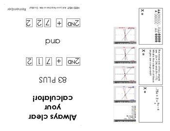 TI-84 Calculator Study Guide