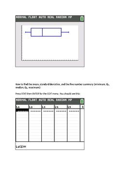 TI-84 Calculator Tips for Statistics in Common Core Algebra