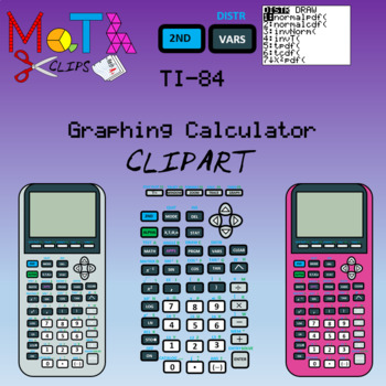 TI-84 Graphing Calculator and Calculator Keys Clipart