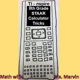 TI-Nspire Calculator Tricks for 8th Grade Math STAAR