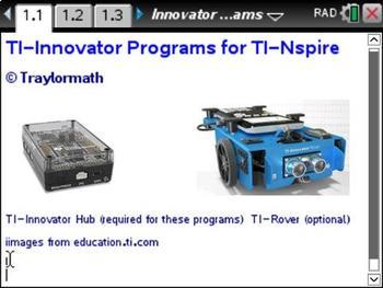 TI-Nspire Innovator Music and Light Show Programs