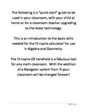 TI-nspire CX Quick Start Guide