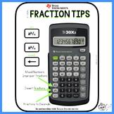 TI30XA Fraction Tips