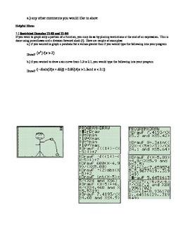 TI83 TI84 Calculator Project (transformations)