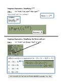 TI84 Imaginary Calculator Tricks