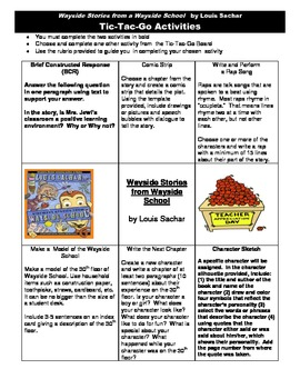 TIC TAC GO BOARD for Wayside Stories from Wayside School by Louis Sachar