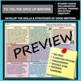 TIC-TAC-TOE CHOICE BOARD: CREATIVE WRITING ENRICHMENT CLASS OR DISTANCE LEARNING