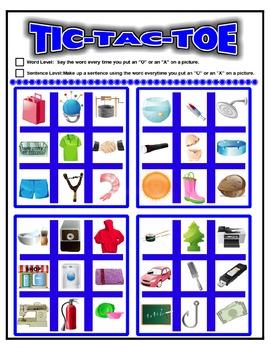 SPEECH THERAPY TIC-TAC-TOE GAME BUNDLE:SH, CH, L, R, S &  S BLENDS