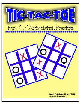 SPEECH THERAPY TIC-TAC-TOE GAME for /L/ ARTICULATION PRACTICE