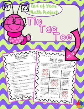 TIC TAC TOE MATH - 4th Grade End of Year