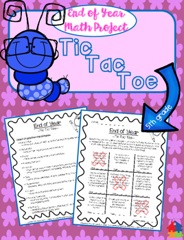 TIC TAC TOE MATH - 5th Grade End of Year