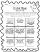 TIC TAC TOE MATH - 5th Grade End of Year