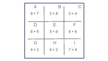 TIC TAC TOE Multiplication Facts